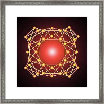 Boron Buckyball Framed Print by Alfred Pasieka