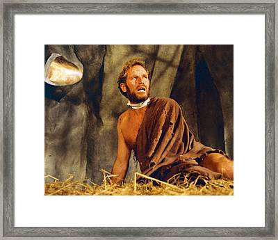 Charlton Heston In Planet Of The Apes  Framed Print by Silver Screen