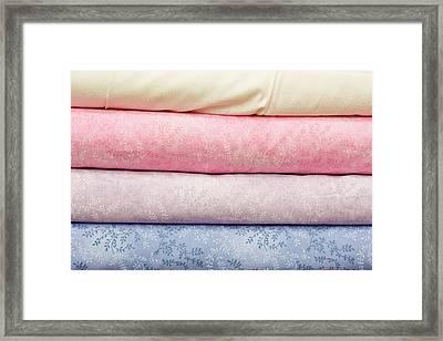 Fabric Background Framed Print by Tom Gowanlock