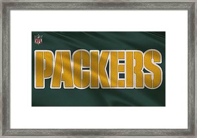Green Bay Packers Uniform Framed Print by Joe Hamilton