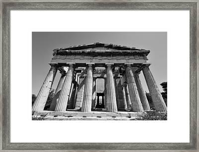 Hephaestus Temple Framed Print by George Atsametakis