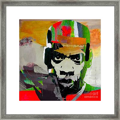 Jay Z Framed Print by Marvin Blaine