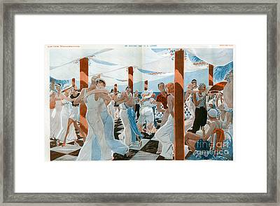 La Vie Parisienne  1931 1930s France Cc Framed Print by The Advertising Archives