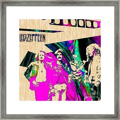 Led Zeppelin Framed Print by Marvin Blaine