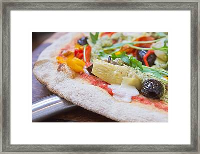 Pizza Framed Print by Tom Gowanlock