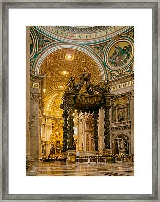 Saint Peter's Basilica  Framed Print by Mountain Dreams