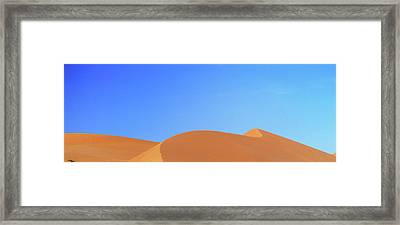 Sand Dunes In The Rub Al-khali, United Framed Print by Martin Zwick