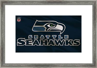 Seattle Seahawks Uniform Framed Print by Joe Hamilton