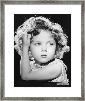 Shirley Temple Framed Print by MMG Archive Prints