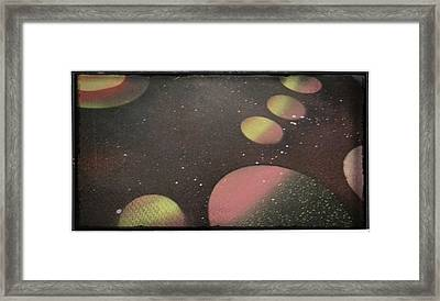 Space Framed Print by Nathan Hawes