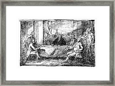 Treaty Of Paris, 1783 Framed Print by Granger