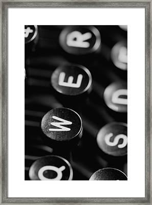 Typewriter Keys Framed Print by Falko Follert