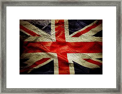 Union Jack  Framed Print by Les Cunliffe