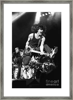 Van Halen - Eddie Van Halen Framed Print by Front Row  Photographs