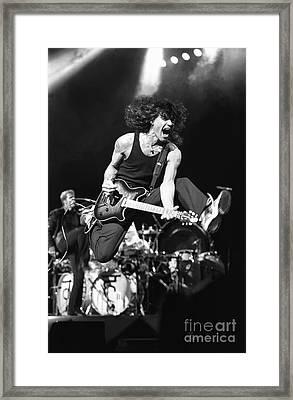 Van Halen - Eddie Van Halen Framed Print by Concert Photos