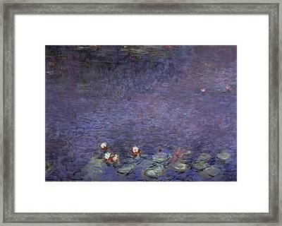 Water Lilies Framed Print by Claude Monet
