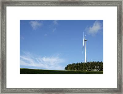 Wind Turbine Framed Print by Bernard Jaubert