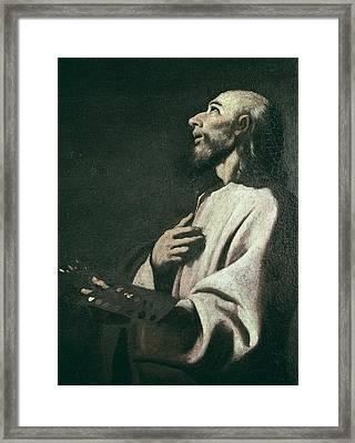 Zurbaran, Francisco De 1598-1664. Saint Framed Print by Everett