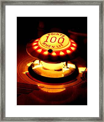 100 Points When Lit Framed Print by Benjamin Yeager
