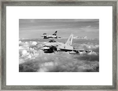 100 Years Of 3 Squadron - Mono  Framed Print by J Biggadike