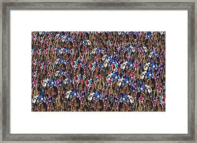1000 Horses Framed Print by Betsy C Knapp