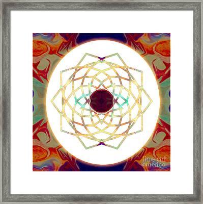 1000 Petalled Lotus Abstract Chakra Art By Omaste Witkowski Framed Print by Omaste Witkowski