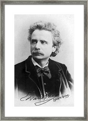 Composer And Pianist Framed Print by MotionAge Designs