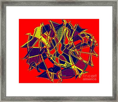 1010 Abstract Thought Framed Print by Chowdary V Arikatla