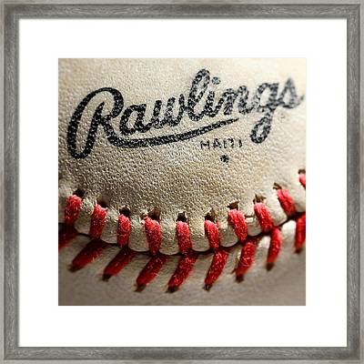 Baseball Framed Print by Michael Blesius