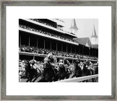 Kentucky Derby Horse Racing Framed Print by Retro Images Archive