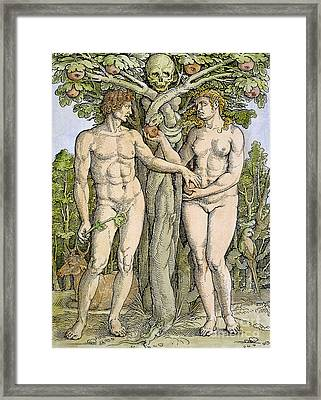Adam And Eve Framed Print by Granger