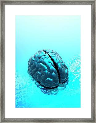 Artificial Intelligence Framed Print by Victor Habbick Visions