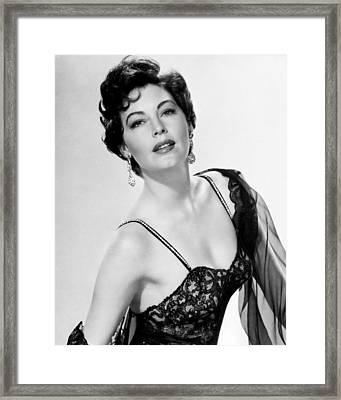 Ava Gardner Framed Print by Silver Screen