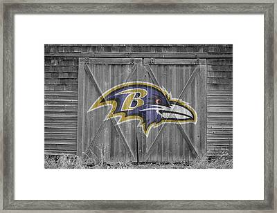 Baltimore Ravens Framed Print by Joe Hamilton