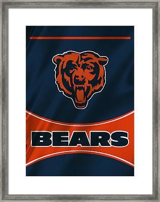 Chicago Bears Uniform Framed Print by Joe Hamilton
