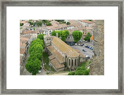 France, Languedoc-roussillon, Ancient Framed Print by Emily Wilson