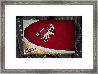 Phoenix Coyotes Framed Print by Joe Hamilton