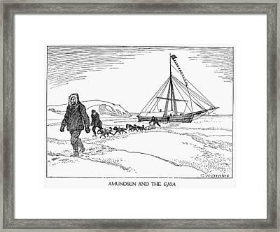 Roald Amundsen (1872-1928) Framed Print by Granger