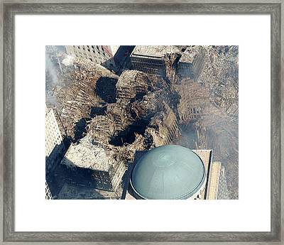 11 September Aftermath Framed Print by Us Navy/aaron Peterson