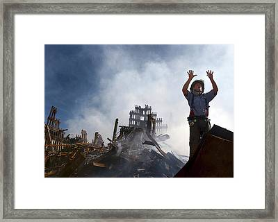 11 September Aftermath Framed Print by Us Navy/preston Keres