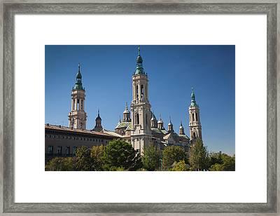 Spain, Aragon Region, Zaragoza Framed Print by Walter Bibikow