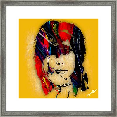 Steven Tyler Collection Framed Print by Marvin Blaine