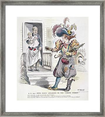 Women's Rights Cartoon Framed Print by Granger