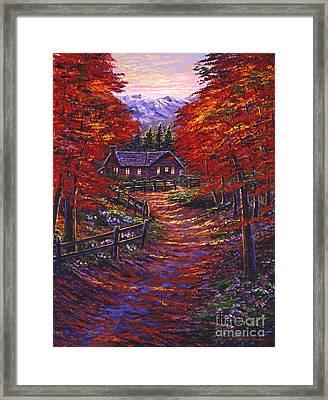 1133 Friendly House Framed Print by David Lloyd Glover