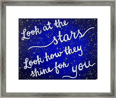 11x14 Look At The Stars Framed Print by Michelle Eshleman