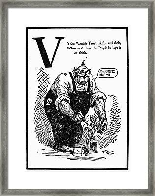 Anti-trust Cartoon, 1902 Framed Print by Granger