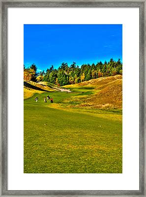 #12 At Chambers Bay Golf Course - Location Of The 2015 U.s. Open Tournament Framed Print by David Patterson