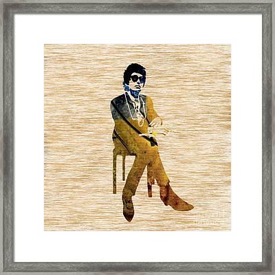 Bob Dylan Framed Print by Marvin Blaine