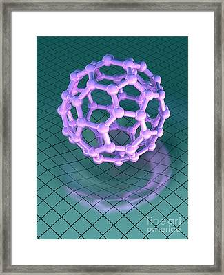 Buckminsterfullerene Molecule Framed Print by Laguna Design