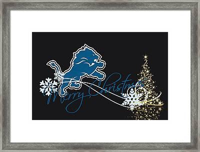 Detroit Lions Framed Print by Joe Hamilton